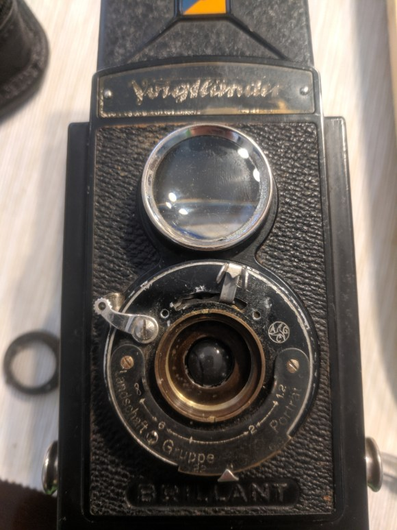 Voigtlander Brilliant with first lens out
