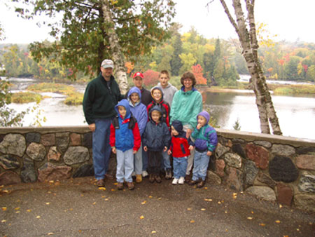 The ten of us at Lower Tahquamenon Falls, Mich.