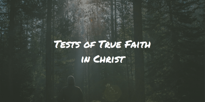 Tests of True Faith in Christ
