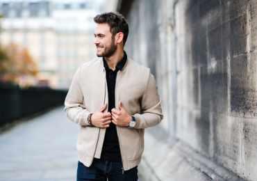 Kevin Ragonneau portant une veste en laine BRICE