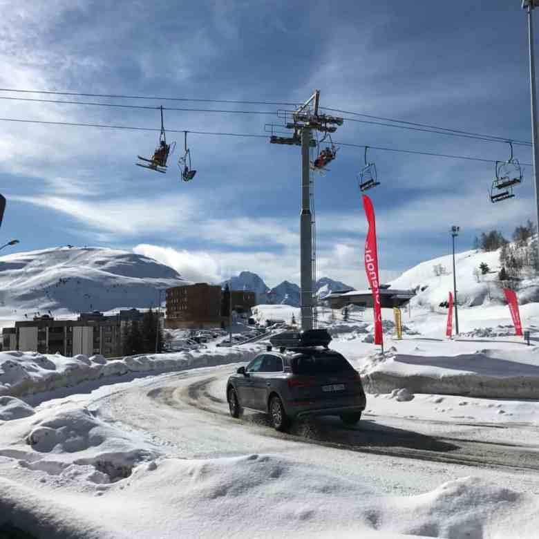 Audi Q5 circuit sur neige et glace de l'alpe d'huez