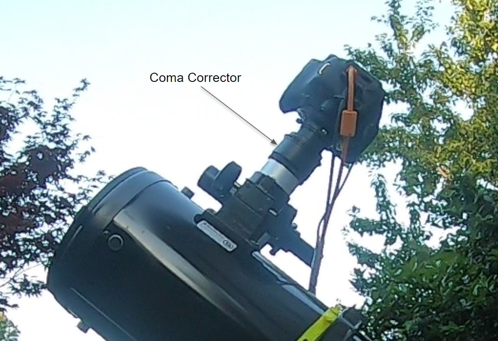Coma Corrector Equals Round Stars Everywhere [Newtonian Telescope]
