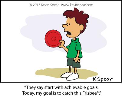 Cartoon of boy holding a frisbee