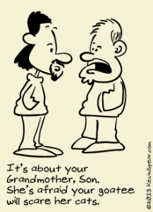 Cartoon of two men talking
