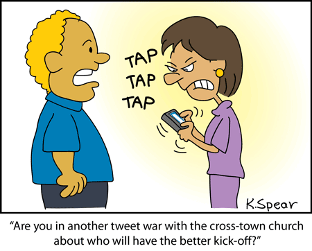 Cartoon of an angry woman on a smart phone