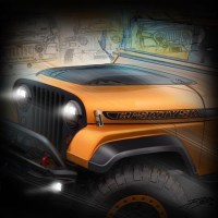 "Jeep ""CJ Sixty Six"" concept teased for SEMA"