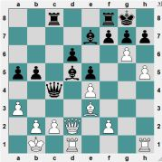 Black had just captured a Knight on d5. How should White capture the Bishop? With the pawn or with the Queen?
