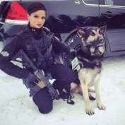K9 handler with PDW