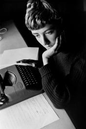 David Seymour : Françoise Sagan, St. Tropez, France, 195