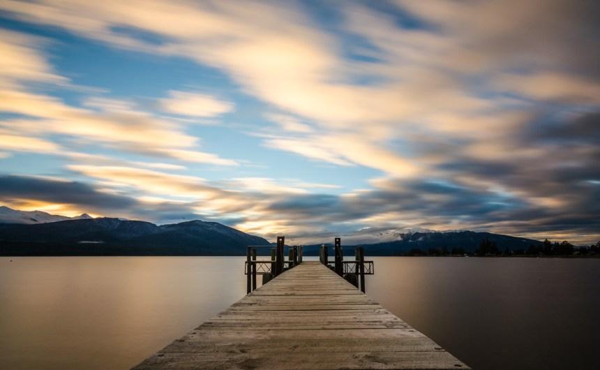 Sunrise over Lake Te Anau