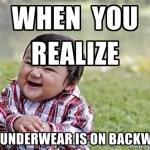 Backwards Underwear