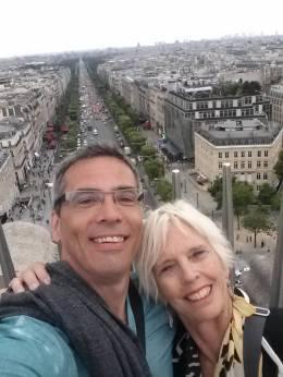 Me and my new friend NINA, fellow LBWR registrant, atop the Arc de Triomphe!