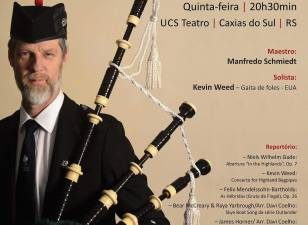 Poster for Brazil concert of Bagpipe Concerto.