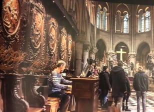 Rehearsal in Notre Dame Cathedral, Paris