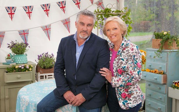 The Great British Baking Show Judges - Mary Berry and Paul Hollywood.
