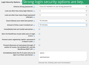 Wordfence login security options