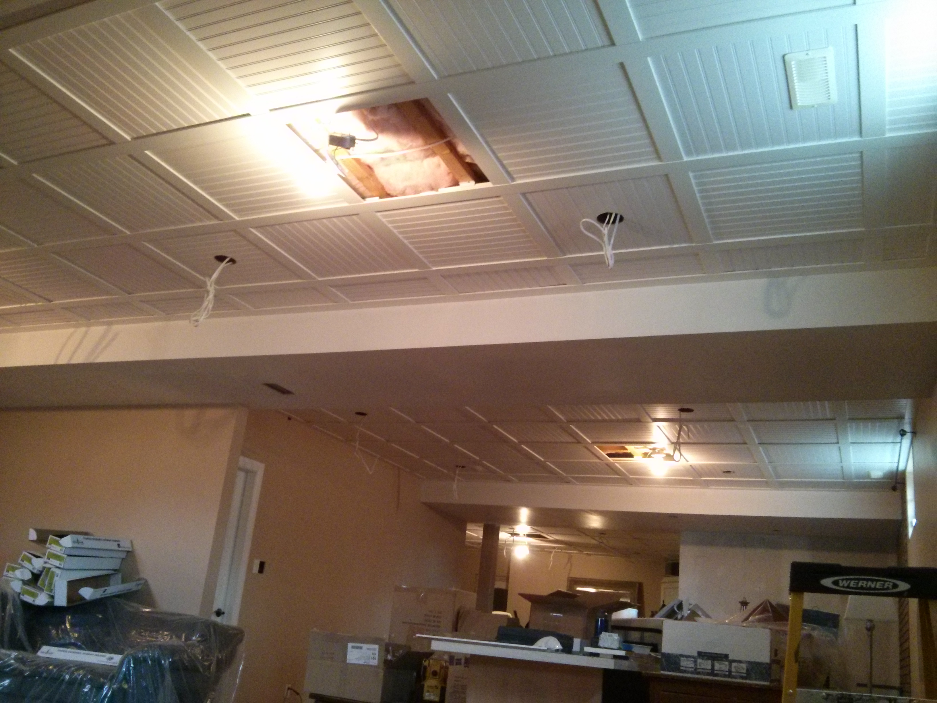Embassy Suspended Ceiling With Beadboard Ceiling Tiles 8