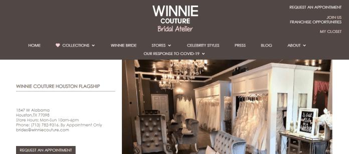 Winnie Couture bridal shop