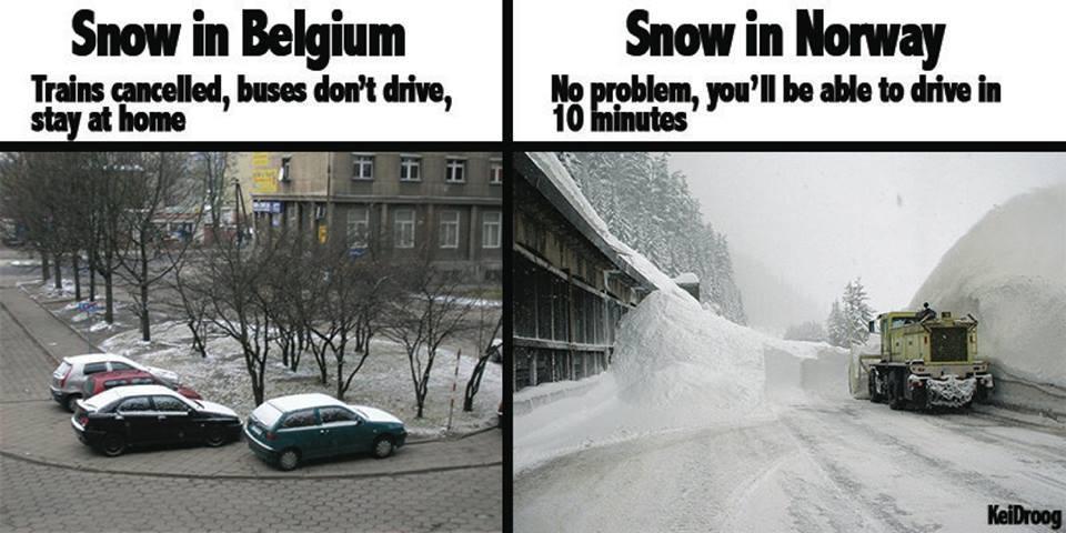 Snow In Belguim Vs Snow In Norway Kevins Music Blog