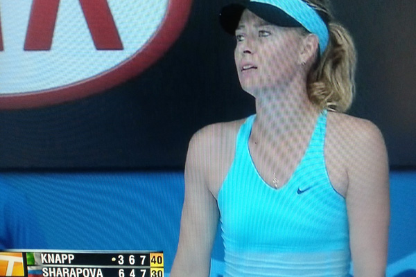 Maria Sharapova under duress!