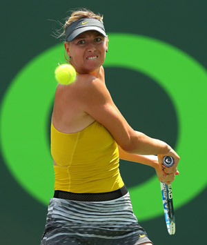 Maria Sharapova (photo courtesy of sonyopentennis.com)
