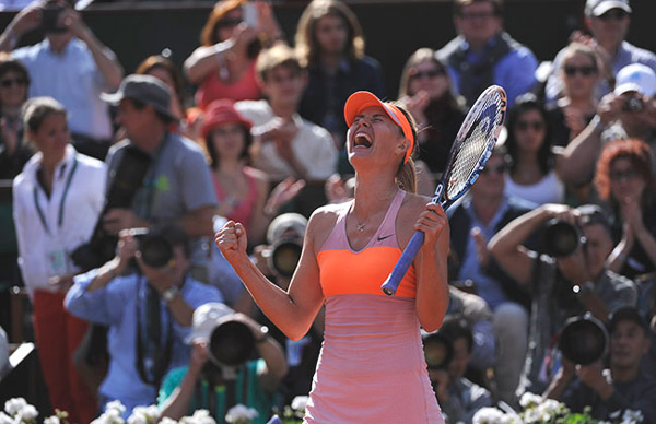 Maria Sharapova is poised to win a second French Open title. (© FFT)