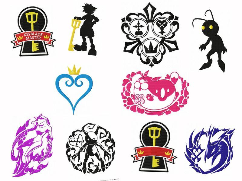Kingdom Hearts Gamer Embroidery Designs Set
