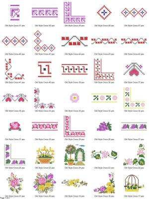 Old Style Cross Stitch Embroidery Designs P1