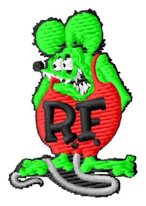 Small Ratfink Embroidery Design (2 inch)