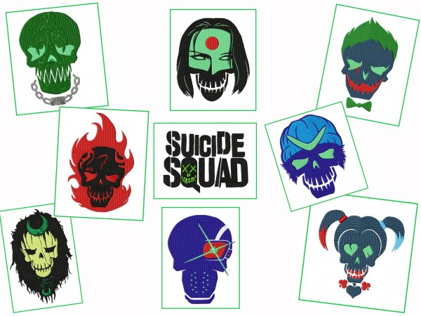 Suicide Squad Embroidery Designs Set