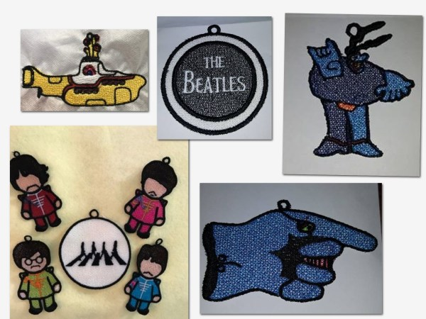 Beatles ornamnets stithed out