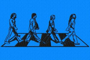 abbey road embroidery design 2