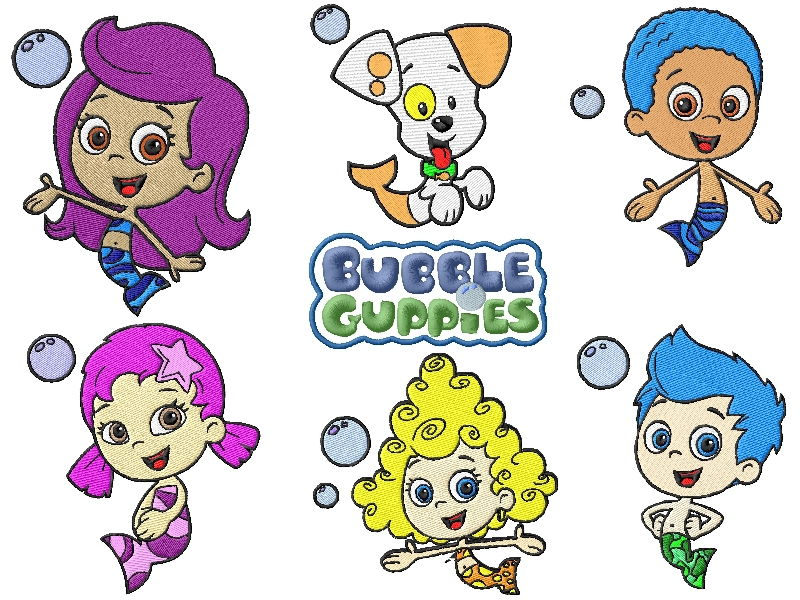 Bubble Guppies Embroidery Designs