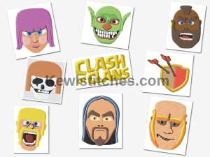 Clash Of Clans Embroidery Designs