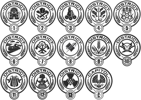 Hunger Games District Seal Appligue Embroidery designs