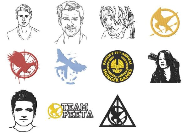 Hunger Games Embroidery Designs Set