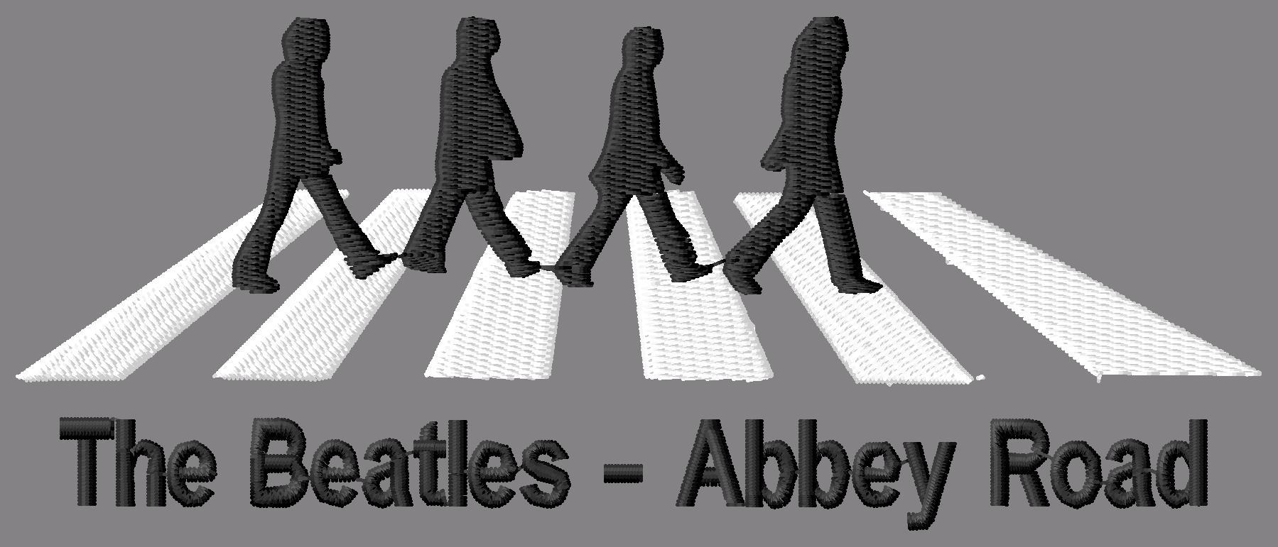 Beatles Abbey Road Embroidery Design
