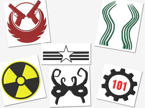 2 Fallout Gamer Embroidery Designs Set