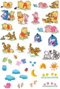 Disney Baby Pooh And Friends Embroidery Designs