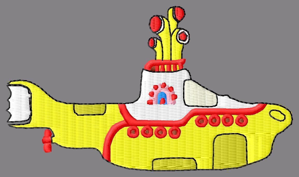 Beatles Yellow Submarine Embroidery Designs