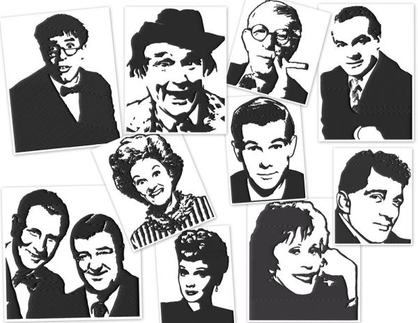 Famous People Comedy Legends Embroidery Designs