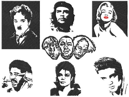 Famous People Embroidery Designs
