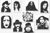 Heavy Metal Rock Masters Embroidery Designs Set