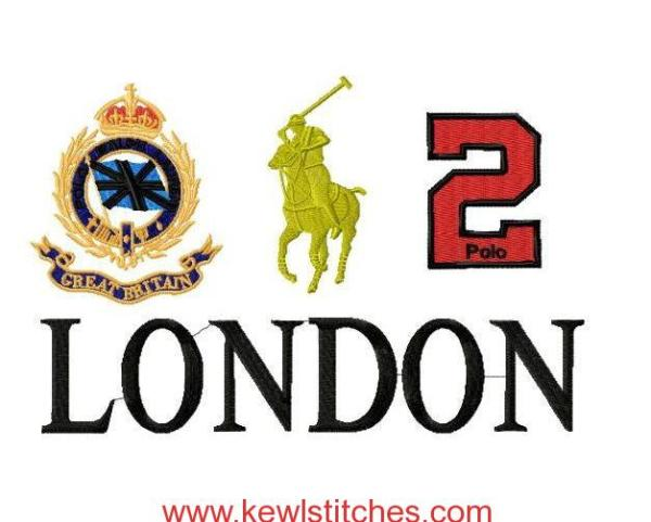 Extra Jumbo Polo Logo London Embroidery Design