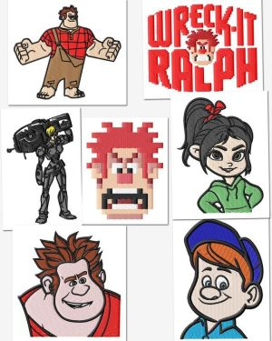 Wreck It Ralph Embroidery Designs Set