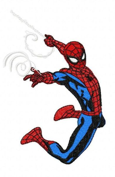 Large Spiderman Embroidery Design