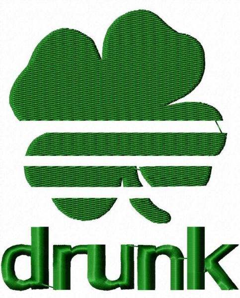 St. Patrick's Day Funny Embroidery Design
