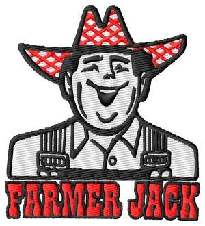Farmer Jack Embroidery Design