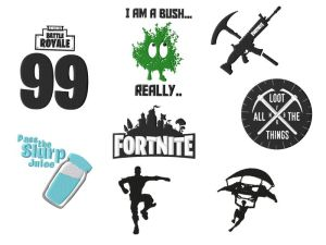 Fortnite Embroidery Designs Set