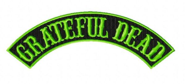 grateful dead rocker embroidery design